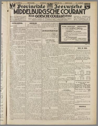 Middelburgsche Courant 1933-02-09