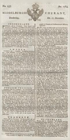 Middelburgsche Courant 1764-12-27