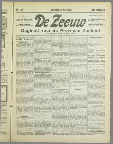 De Zeeuw. Christelijk-historisch nieuwsblad voor Zeeland 1930-05-12