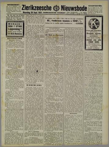 Zierikzeesche Nieuwsbode 1921-09-26