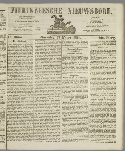 Zierikzeesche Nieuwsbode 1854-03-27