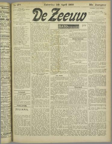 De Zeeuw. Christelijk-historisch nieuwsblad voor Zeeland 1921-04-30
