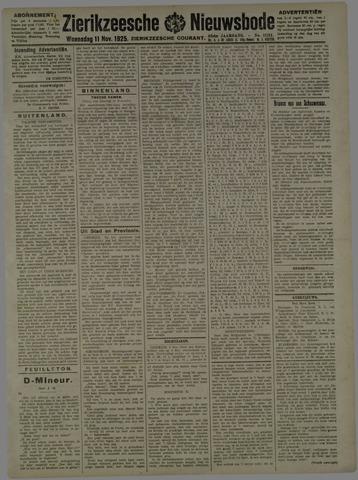 Zierikzeesche Nieuwsbode 1925-11-11