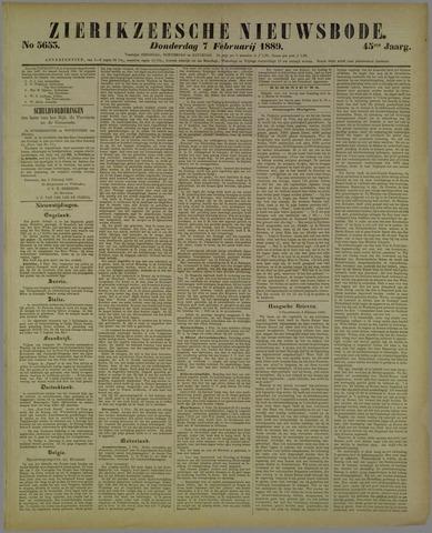 Zierikzeesche Nieuwsbode 1889-02-07