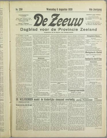 De Zeeuw. Christelijk-historisch nieuwsblad voor Zeeland 1930-08-06