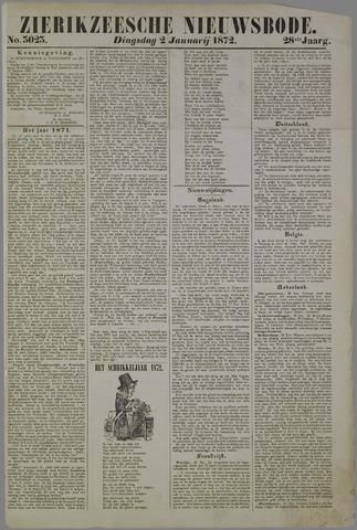 Zierikzeesche Nieuwsbode 1872