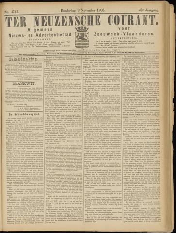 Ter Neuzensche Courant. Algemeen Nieuws- en Advertentieblad voor Zeeuwsch-Vlaanderen / Neuzensche Courant ... (idem) / (Algemeen) nieuws en advertentieblad voor Zeeuwsch-Vlaanderen 1905-11-09