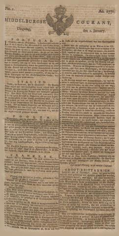 Middelburgsche Courant 1771