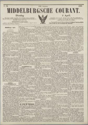 Middelburgsche Courant 1901-04-02