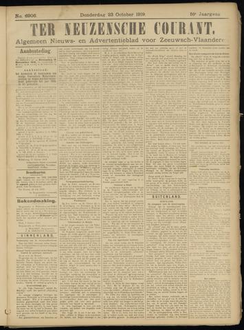 Ter Neuzensche Courant. Algemeen Nieuws- en Advertentieblad voor Zeeuwsch-Vlaanderen / Neuzensche Courant ... (idem) / (Algemeen) nieuws en advertentieblad voor Zeeuwsch-Vlaanderen 1919-10-23