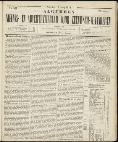 Ter Neuzensche Courant. Algemeen Nieuws- en Advertentieblad voor Zeeuwsch-Vlaanderen / Neuzensche Courant ... (idem) / (Algemeen) nieuws en advertentieblad voor Zeeuwsch-Vlaanderen 1870-06-11