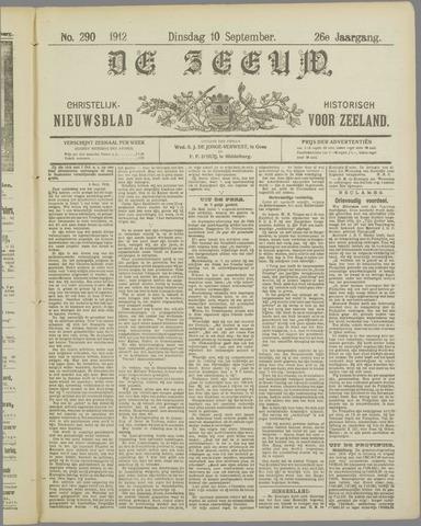 De Zeeuw. Christelijk-historisch nieuwsblad voor Zeeland 1912-09-10