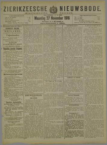Zierikzeesche Nieuwsbode 1916-11-27