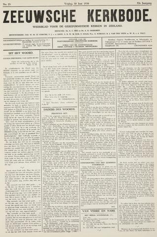 Zeeuwsche kerkbode, weekblad gewijd aan de belangen der gereformeerde kerken/ Zeeuwsch kerkblad 1938-06-10