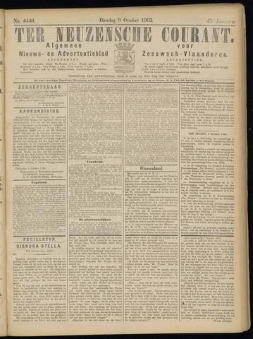 Ter Neuzensche Courant. Algemeen Nieuws- en Advertentieblad voor Zeeuwsch-Vlaanderen / Neuzensche Courant ... (idem) / (Algemeen) nieuws en advertentieblad voor Zeeuwsch-Vlaanderen 1903-10-06