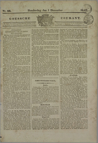Goessche Courant 1842-12-01