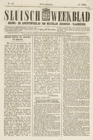 Sluisch Weekblad. Nieuws- en advertentieblad voor Westelijk Zeeuwsch-Vlaanderen 1865-11-24