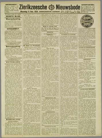 Zierikzeesche Nieuwsbode 1924-02-11