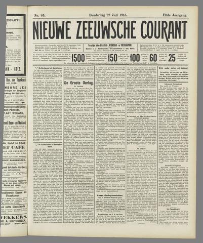 Nieuwe Zeeuwsche Courant 1915-07-22