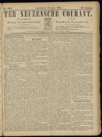 Ter Neuzensche Courant. Algemeen Nieuws- en Advertentieblad voor Zeeuwsch-Vlaanderen / Neuzensche Courant ... (idem) / (Algemeen) nieuws en advertentieblad voor Zeeuwsch-Vlaanderen 1902-11-15