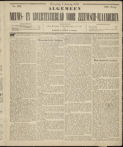 Ter Neuzensche Courant. Algemeen Nieuws- en Advertentieblad voor Zeeuwsch-Vlaanderen / Neuzensche Courant ... (idem) / (Algemeen) nieuws en advertentieblad voor Zeeuwsch-Vlaanderen 1870-01-05