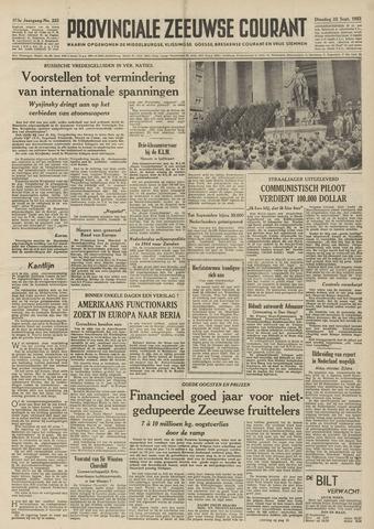 Provinciale Zeeuwse Courant 1953-09-22