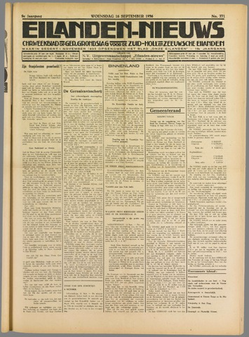 Eilanden-nieuws. Christelijk streekblad op gereformeerde grondslag 1936-09-16