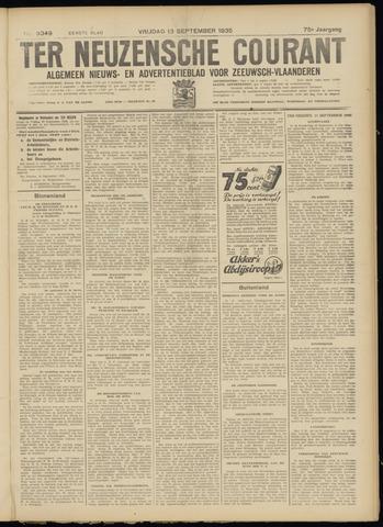 Ter Neuzensche Courant. Algemeen Nieuws- en Advertentieblad voor Zeeuwsch-Vlaanderen / Neuzensche Courant ... (idem) / (Algemeen) nieuws en advertentieblad voor Zeeuwsch-Vlaanderen 1935-09-13