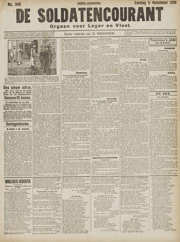 De Soldatencourant. Orgaan voor Leger en Vloot 1916-11-05