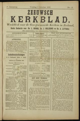 Zeeuwsche kerkbode, weekblad gewijd aan de belangen der gereformeerde kerken/ Zeeuwsch kerkblad 1903-10-09