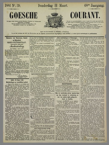 Goessche Courant 1881-03-31