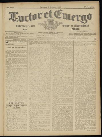 Luctor et Emergo. Antirevolutionair nieuws- en advertentieblad voor Zeeland / Zeeuwsch-Vlaanderen. Orgaan ter verspreiding van de christelijke beginselen in Zeeuwsch-Vlaanderen 1913-10-11