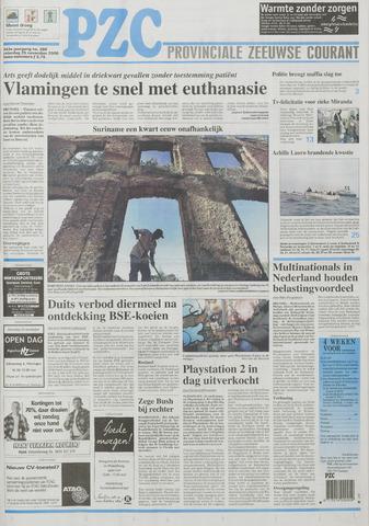 Provinciale Zeeuwse Courant 2000-11-25