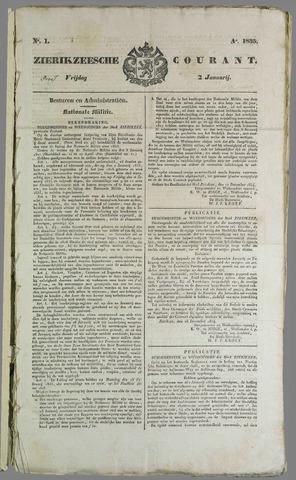 Zierikzeesche Courant 1835
