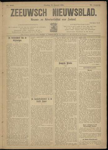 Ter Neuzensch Volksblad. Vrijzinnig nieuws- en advertentieblad voor Zeeuwsch- Vlaanderen / Zeeuwsch Nieuwsblad. Nieuws- en advertentieblad voor Zeeland 1918-01-22