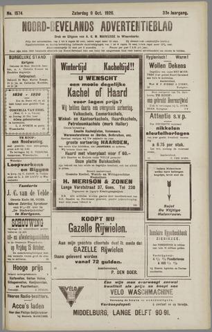 Noord-Bevelands Nieuws- en advertentieblad 1926-10-09