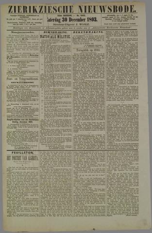 Zierikzeesche Nieuwsbode 1893-12-30