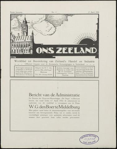 Ons Zeeland / Zeeuwsche editie 1926-04-17