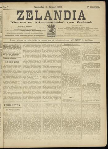 Zelandia. Nieuws-en advertentieblad voor Zeeland | edities: Het Land van Hulst en De Vier Ambachten 1902-01-15