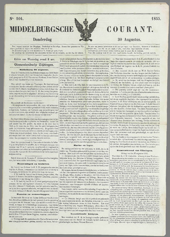 Middelburgsche Courant 1855-08-30