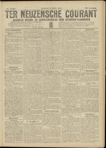 Ter Neuzensche Courant. Algemeen Nieuws- en Advertentieblad voor Zeeuwsch-Vlaanderen / Neuzensche Courant ... (idem) / (Algemeen) nieuws en advertentieblad voor Zeeuwsch-Vlaanderen 1942-04-17