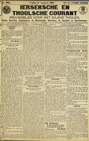 Ierseksche en Thoolsche Courant 1928-08-17