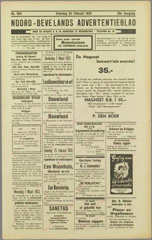 Noord-Bevelands Nieuws- en advertentieblad 1933-02-25