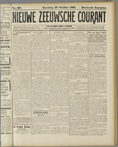 Nieuwe Zeeuwsche Courant 1917-10-27