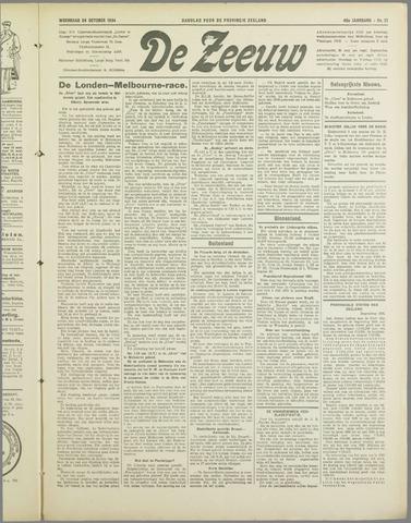 De Zeeuw. Christelijk-historisch nieuwsblad voor Zeeland 1934-10-24