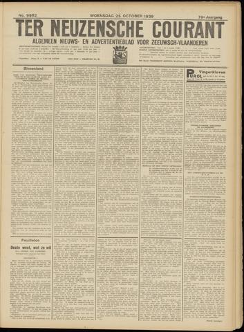 Ter Neuzensche Courant. Algemeen Nieuws- en Advertentieblad voor Zeeuwsch-Vlaanderen / Neuzensche Courant ... (idem) / (Algemeen) nieuws en advertentieblad voor Zeeuwsch-Vlaanderen 1939-10-25