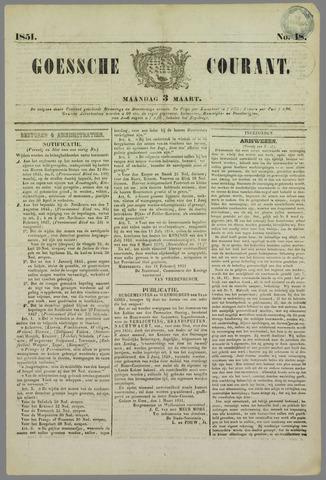 Goessche Courant 1851-03-03