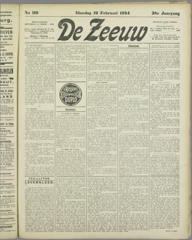 De Zeeuw. Christelijk-historisch nieuwsblad voor Zeeland 1924-02-19