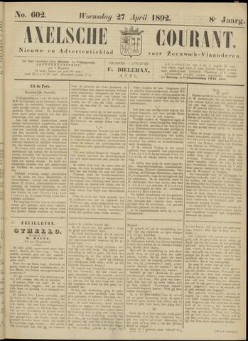 Axelsche Courant 1892-04-27