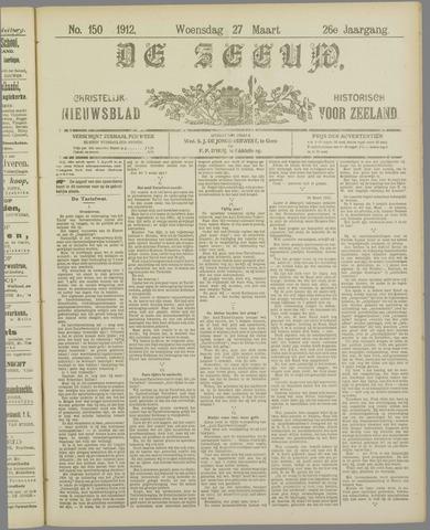 De Zeeuw. Christelijk-historisch nieuwsblad voor Zeeland 1912-03-27